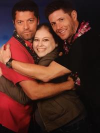 Picture with Misha and Jensen