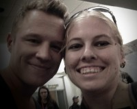 Chris Egan and me, 2014