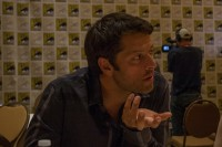 Misha Collins, Supernatural Press Room, 2014
