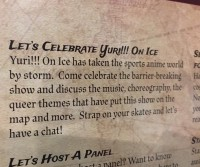 My Yuri on Ice panel description, Kawaii Kon 2017