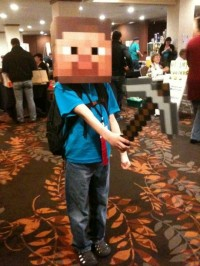 Minecraft cosplayer, KumoriCon 2011
