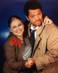 Picture with Castiel