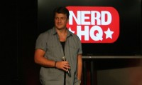 Nathan Fillion at the Doctor Who Nerd HQ Panel, SDCC 2013
